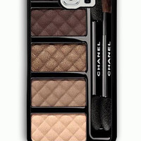 Samsung Galaxy S6 Case - Rubber (TPU) Cover with Chanel Ombres Matelassees Rubber case Design