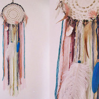 Gypsy Dreamcatcher - Wall Hanging Boho Dream Catcher - Bohemian Bedroom Decor - Gypsy Decor - Made To Order