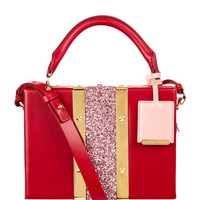 Sophie Hulme Mini Albany Glitter Suitcase Shoulder Bag | Harrods.com