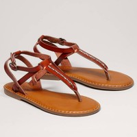 AEO Beaded T-Strap Sandal | American Eagle Outfitters