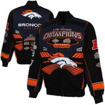Denver Broncos Back 2 Back Super Bowl Back 2 Back Commemorative Jacket