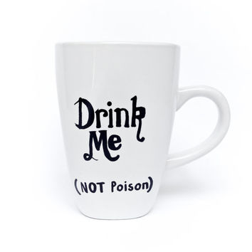 Alice in Wonderland Drink Me (Not Poison) Mug