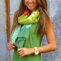 So Envious Scarf: Green/Multi | Hope's