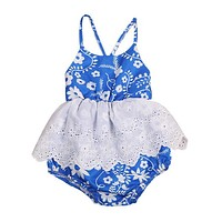 Newborn Baby Girls Lace Romper Jumpsuit Outfit Clothes