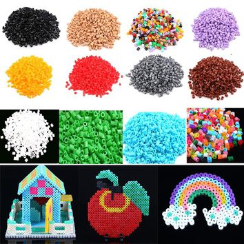 1000pcs/ Pack 5MM Hama/Perler Beads for Kids Children DIY Handmaking Great Fun Multi Colors @ZJF