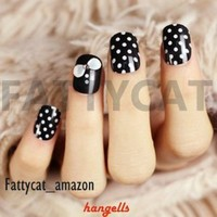FASHION JAPANESE 3D NAIL ART BLACK SECRET 24 nails Sold By FATTYCAT
