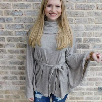 Call Me Later Cowl Neck Sweater