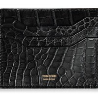 SHINY ALLIGATOR CARDHOLDER