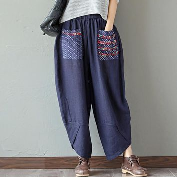 Loose Fit Women's Wide Leg Pants