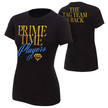 """Prime Time Players """"The Tag Team is Back"""" Women's Authentic T-Shirt"""