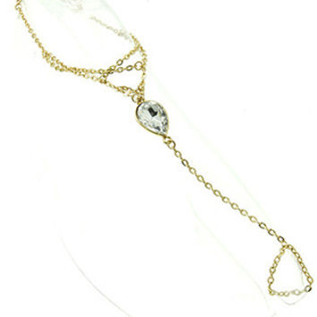 Rhinestone Accent Toe Ring Anklet Combo