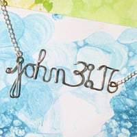 Custom Bible Verse Necklace