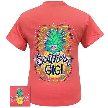 Girlie Girl Originals Preppy Southern Gigi Pineapple T Shirt