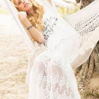 Ophelia maxi skirt in off white