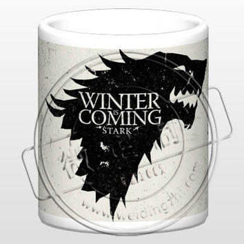 New Game of Thrones House STARK Ceramic Coffee Mug White Color Or Color Changed Cup