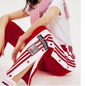 Adidas Originals Adibreak Poppe Pants Snap Track Bottom Women Men Sides Open Button Trousers