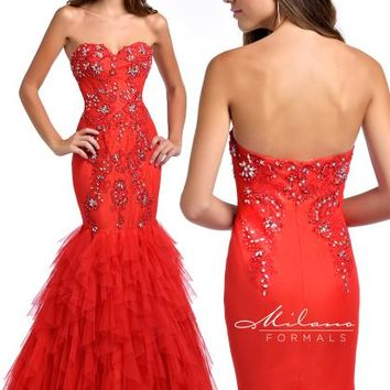 Strapless Mermaid Milano Formals Dress E1764