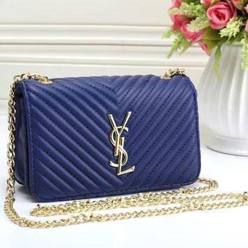 YSL Women Fashion Leather Shoulder Bag Crossbody-2