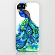 Abstract Peacock iPhone Case by Annya Kai | Society6