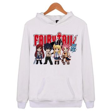 Fairy Tail Anime New 2018 Autumn Winter Fashion Hoodies Men Double Slim Sweatshirts Male Solid Casual Hooded Jacket E4186