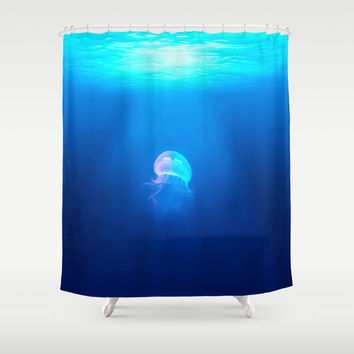 Jellyfish Shower Curtain by CeaiLaMare