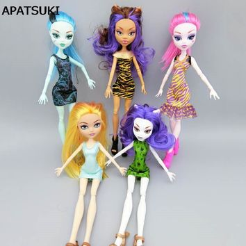 Fashion Wedding Dress For Monster High Dolls Dress Party Dresses Vestidos Clothes For Monster Doll Kid Toys