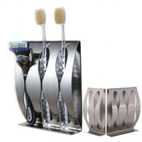1PC Stainless Steel Three Position Two Position Self-Adhesive Toothbrush Holder Bathroom Accessories