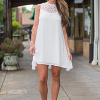 Summer Stroll Dress, White