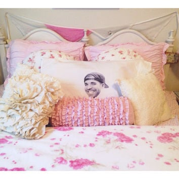 Sleeping With Drake Pillow Case Drizzy If You're Reading This Its Too Late Room Decor