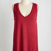 Mid-length Sleeveless Endless Possibilities Top in Cabernet