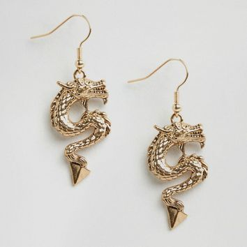 ASOS Dragon Spike Earrings at asos.com