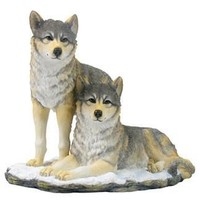 Wolf Pack Group Statue - 8394
