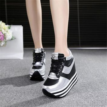 Woman shoes high heels platform casual Free shipping of wedge casual shoes Fitness Sho