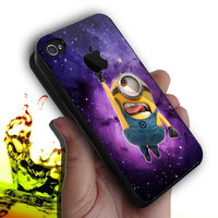 Galaxy Despicable me and apple logo design for iphone 4/4s case, iPhone 5 case, Samsung s3 i9300 case,s4 i9500 case