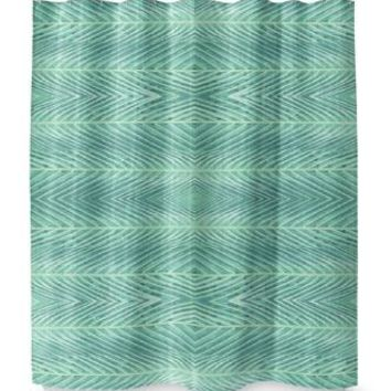 BLUE GREEN PALMS Shower Curtain By Catia Keck
