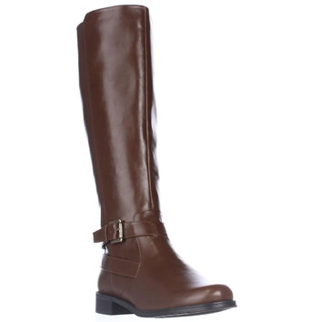 Aerosoles With Pride Expandable Calf Riding Boots - Tan