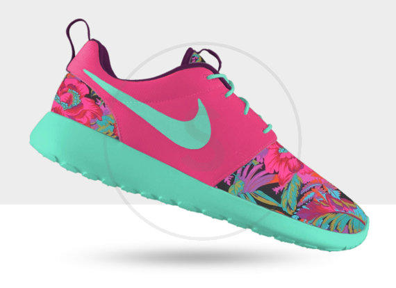competitive price 8347f 1e46d Custom Nike Roshe Run Hawaiian Floral from SKLCustomShoes on Etsy