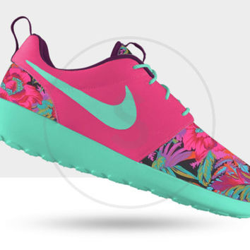 premium selection d1218 1f2ad Custom Nike Roshe Run Hawaiian Floral