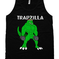 Funny Workout Tank Trapzilla Training Gifts American Apparel Tank Gym Clothes Fitness Clothing Workout Apparel Unisex Mens Tank Top WT-174