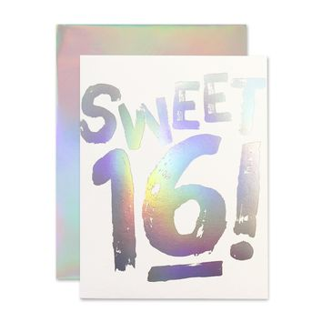 Sweet 16! Holla-Gram Card