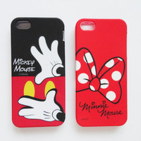 Mickey and Minnie Mouse  -  iPhone 5 protective Case