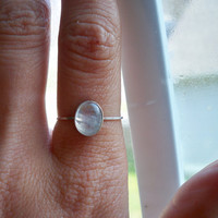 Sterling Silver and Moonstone Stacking Ring