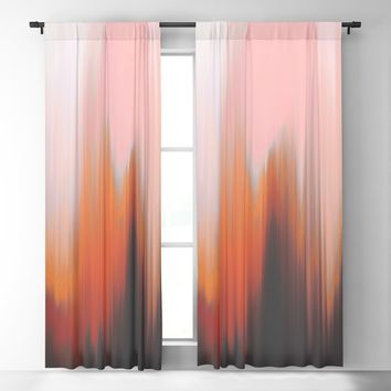 Give In Blackout Curtain by duckyb