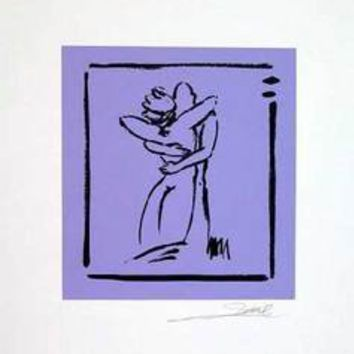 Love - Light Violet - Hand Signed Open Serigraph