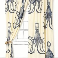 Deep Sea Curtain - Anthropologie.com