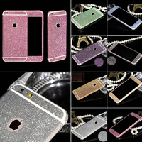 Free Shipping Shiny Full Body Glitter for iPhone 6  Phone Sticker Matte Screen Protector WHD1258
