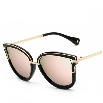 Fashion Vintage Cat Eye Sunglasses Women Fashion Sunglasses Vintage Brand Designer Luxury Sun Glasses Women Summer style Mirror