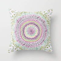 Intricate Spring Throw Pillow by Janet Broxon