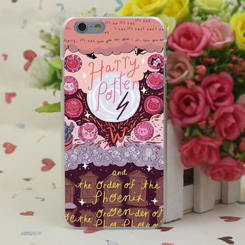 Harry Potter and the Order of the Phoenix Sticker Case Cover for iPhone 4 4S 5 5S SE 5c 6 6s 7 7 Plus