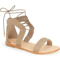 Urge Footwear 'Sophia' Lace-Up Flat Sandal (Women) | Nordstrom